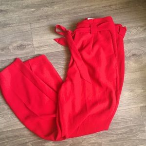 Red Ankle Pants Size 12